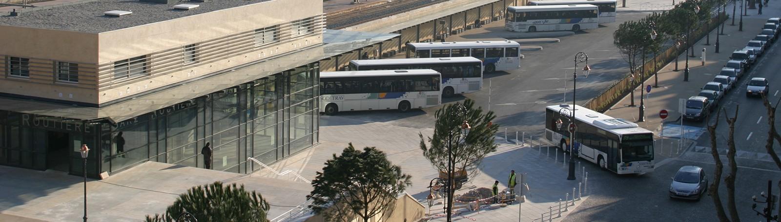 Parkeren Toulon busstation