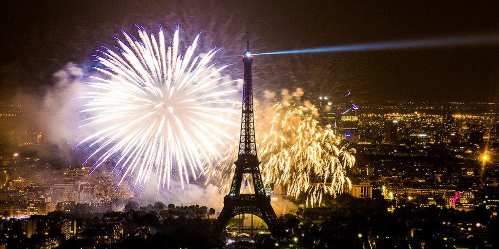 Fireworks of the Eiffel Tower Paris