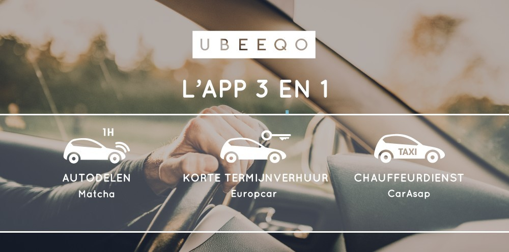 De 3-in-1 mobiliteitsapp Ubeeqo