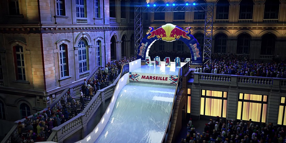 Red Bull Crashed Ice in Marseille Frankrijk