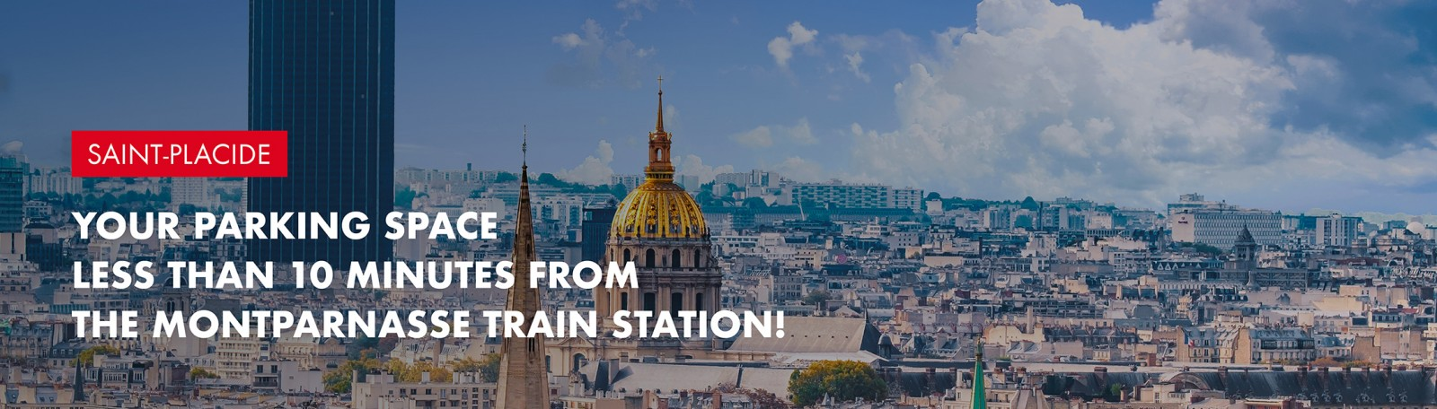 Book your parking at Montparnasse train station