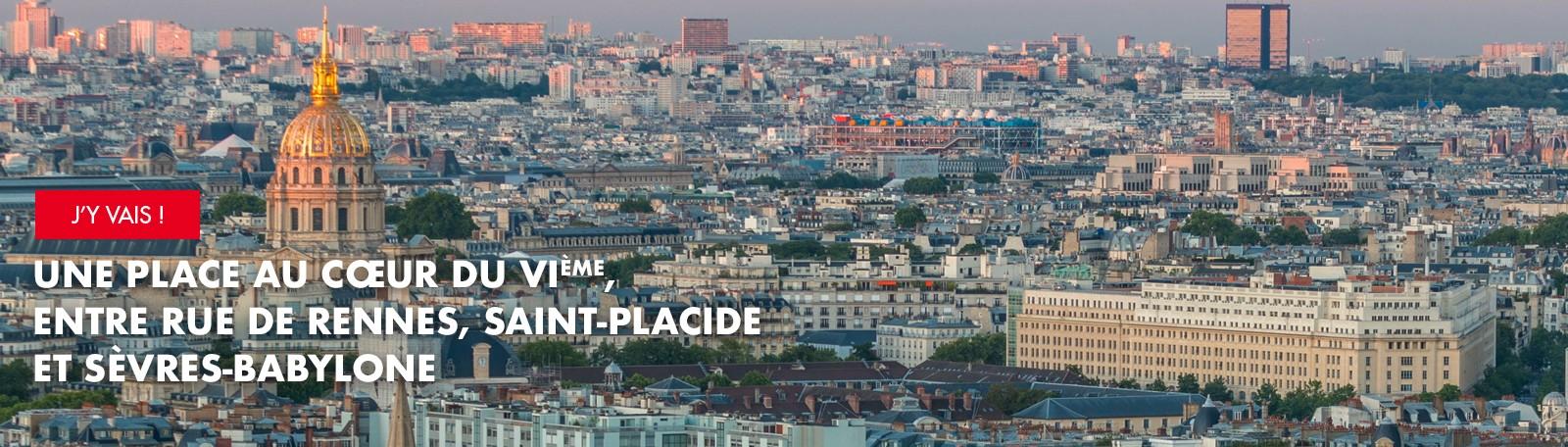 Une place au cœur du VIème entre rue de Rennes, Saint-Placide et Sèvres-Babylone