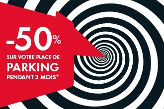 -50% sur votre place de parking pendant 3 mois
