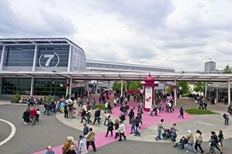 Het herfstsalon in het Parc des exposition in de Porte de Versailles