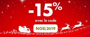Profitez de 15% de réduction avec le code NOEL2019